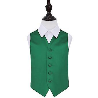 Smaragd grønn ren Satin bryllupet vest for gutter
