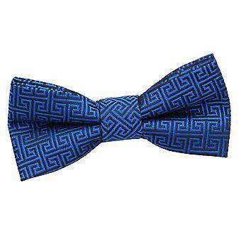 Royal Blue Griekse belangrijke vooraf gebonden strikje voor jongens