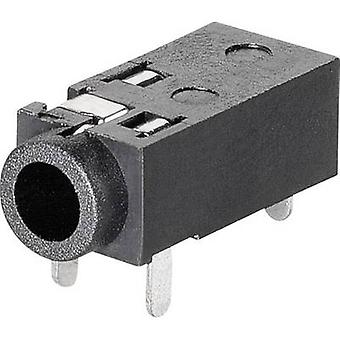 BKL Electronic 1109200 2.5 mm audio jack Socket, horizontal mount Number of pins: 4 Stereo 1 pc(s)