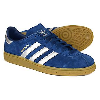 Adidas Originals Munchen Navy & Silver Suede Trainers BY9791