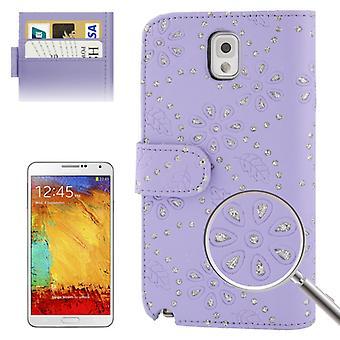 携帯電話カバー携帯電話ケース間で携帯電話三星銀河注 3 N9000 紫