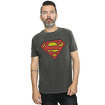 DC Comics Men's Superman Logo Washed T-Shirt