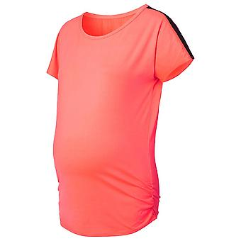 Noppies 66504-C072 kvinners Feline Coral oransje fødselspermisjon sport t-skjorte