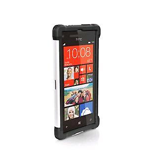 Caz cu gel balistic pentru HTC Accord 8X 6990 - Negru/Alb (SG1008-M385)
