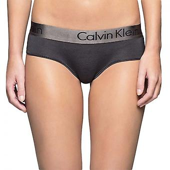 Calvin Klein Dual Tone Hipster Brief, Black/Shadow Grey, Large