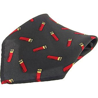 David Van Hagen Shotgun Cartridge Country Pocket Square - Green