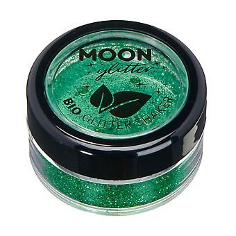 Shakers biodégradable Eco Glitter par Moon Glitter - Glitter 100 % Bio cosmétique pour le visage, corps, ongles, cheveux et lèvres - 5g - vert