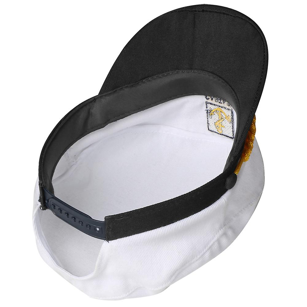 TRIXES White and Navy Novelty Adjustable Sailor Marine Captains Hat