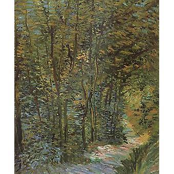 مسار في الغابة،فنسنت فان جوخ.46x38.5cm