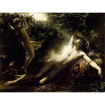 Den søvn af Endymion, Anne-Louis Girodet-Trioson, 50x40cm