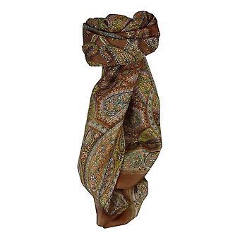 Maulbeere traditionelle quadratischen Seidentuch Corat Kupfer von Pashmina & Seide