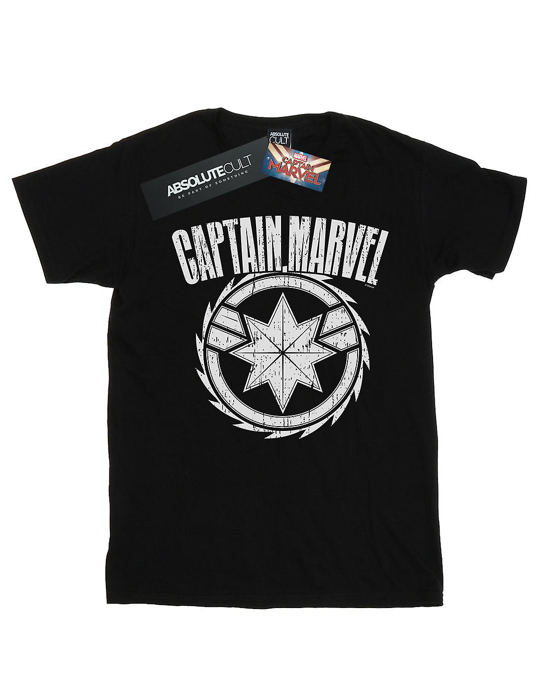Marvel Boys Captain Marvel Blade Emblem T-Shirt