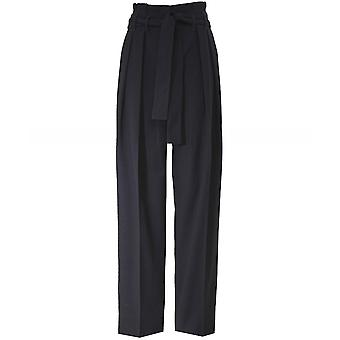 Victoria Beckham Front Pleat Tie Trousers