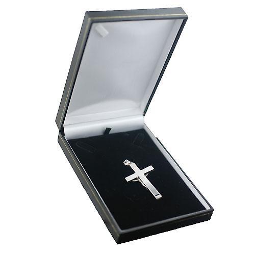 Silber 55x33mm solider Block Kruzifix Kreuz mit Kaution