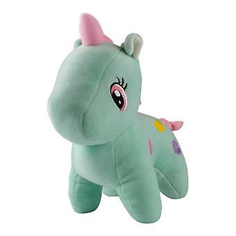 Unicorn with hearts, stuffed toys/stuffed animals-Green