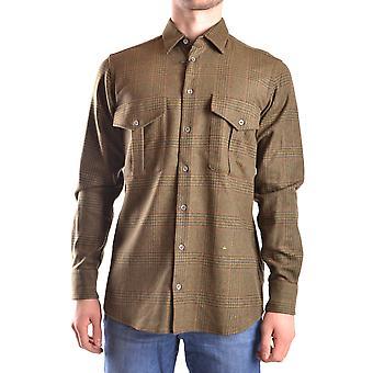 Peuterey Ezbc017055 Men's Green Wool Shirt