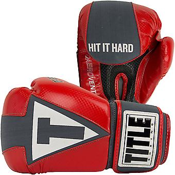 Title Gel Aerovent Washable Fitness Boxing Gloves - Red/Gray