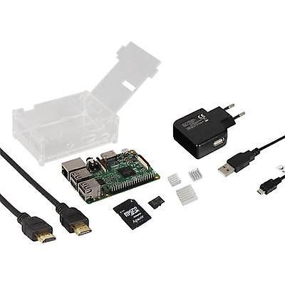Joy-it Basic Complete-Set Raspberry Pi® 3 B 1 GB 4 x 1.2 GHz Housing, HDMI cable, Noobs OS, Heatsink, PSU