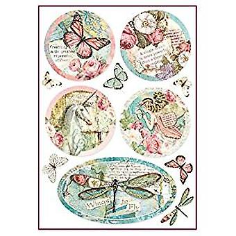 Stamperia Rice Paper A4 Wonderland Fantasy Decorations (DFSA4270)