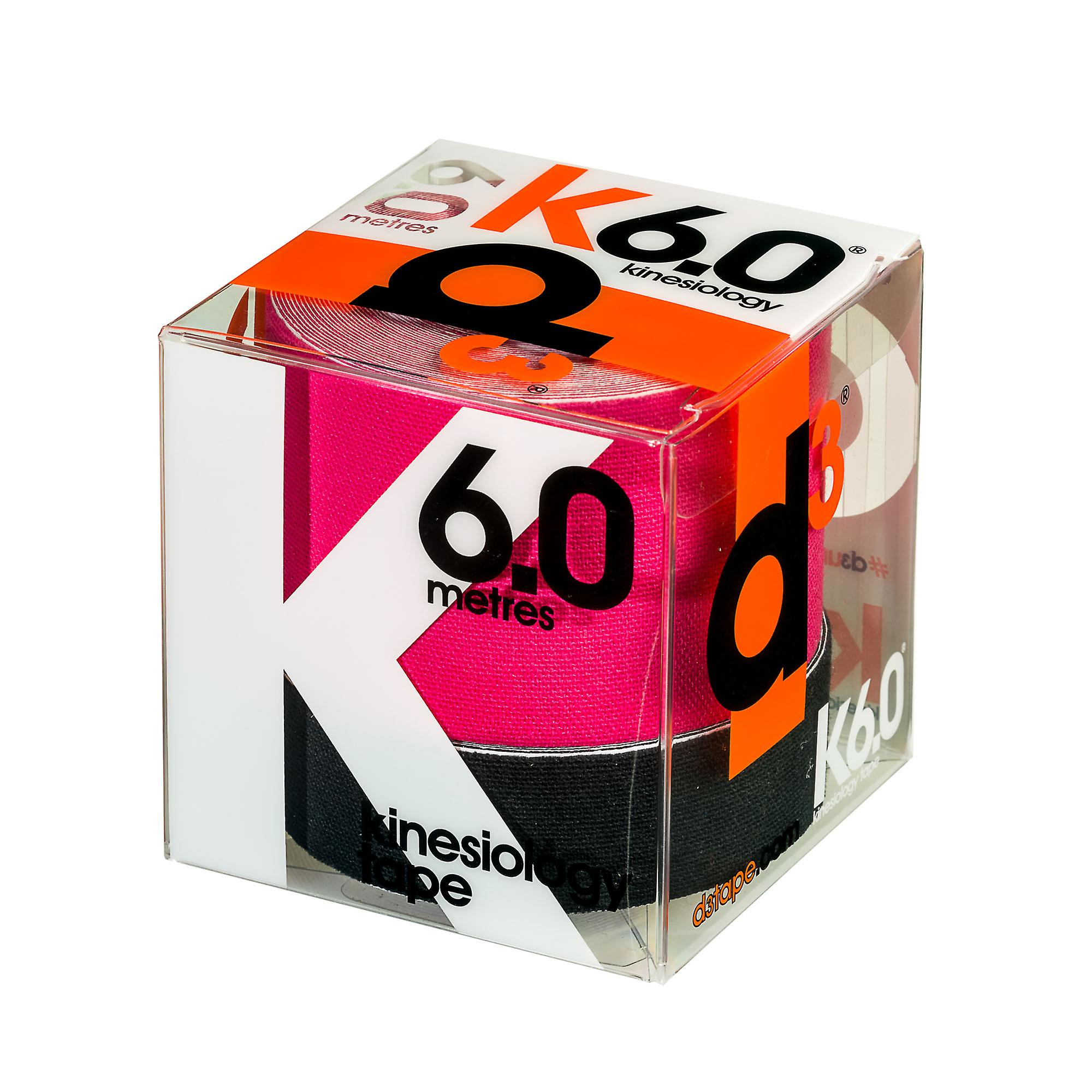 d3 K6.0 Kinetic Kinesiology Sports Fitness Tape 2 Pack 50mm + 25mm x 6m