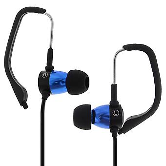 Sport Music Model Earphones (microphone + remote control) - Forever - Blue