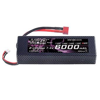1 Piece HRB 2s 7.4v 6000mah 60c RC Lipo Battery Hard Case With Dean T Plug For RC Model Boat Truck Buggy RC Car Truck RC Hobby