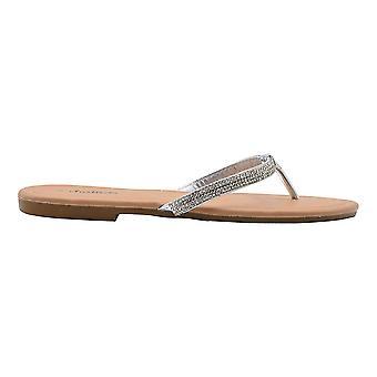 Chatties hyvät muoti sandaalit metallinen Thong slip on Flip floppeja kanssa koristukset