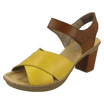 Sandalias de tacón elegante de Las señoras Rieker 665H1