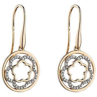 Boucles d'oreilles Elements Gold Flower Circle - Or/Argent