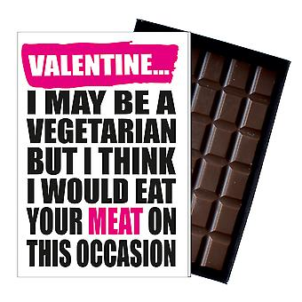 Funny Valentine Vegetarian Gift For Boyfriend Naughty Present Chocolate Card IYF178