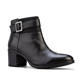 Womens Geox New Asheel Ankle Boots in black.
