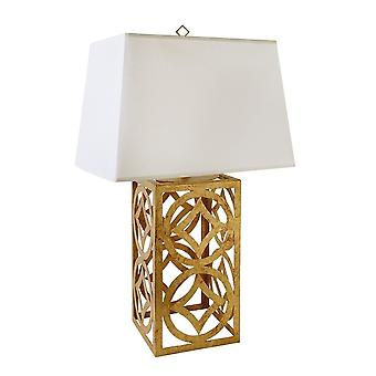 Gilded Nola Gilded Nola Lee Distressed Gold Steel Frame Table Lamp With Shade