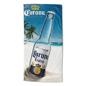 Corona ekstra besked i en flaske Beach håndklæde
