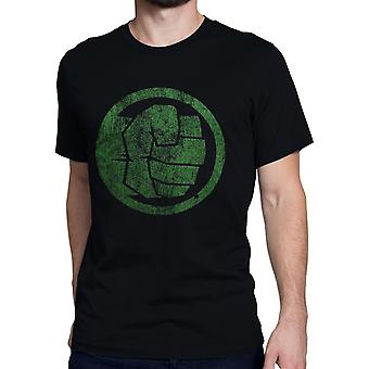 Hulk Fist Bump on Black Men's T-Shirt
