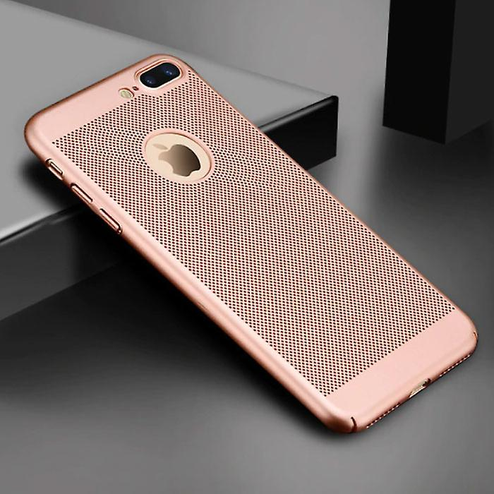 Stuff Certified® iPhone 8 Plus - Ultra Slim Case Heat Dissipation Cover Cas Case Rose Gold