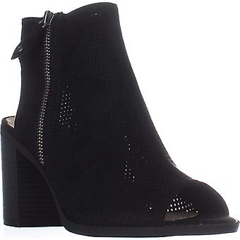 American Rag Womens ACHASITY Fabric Open Toe Ankle Fashion Boots