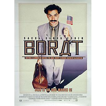 Borat (enkelzijdig video) originele video/DVD AD poster