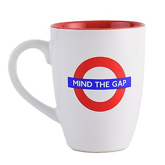 Licensed tfl mind the gap latte mug