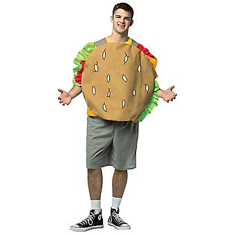 Bob's Burgers Cheeseburger Sandwich Gene Cartoon Funny Adult Homme Costume OS