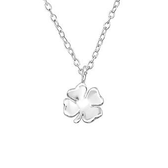 Clover - 925 Sterling Silver Plain Necklaces - W19308X