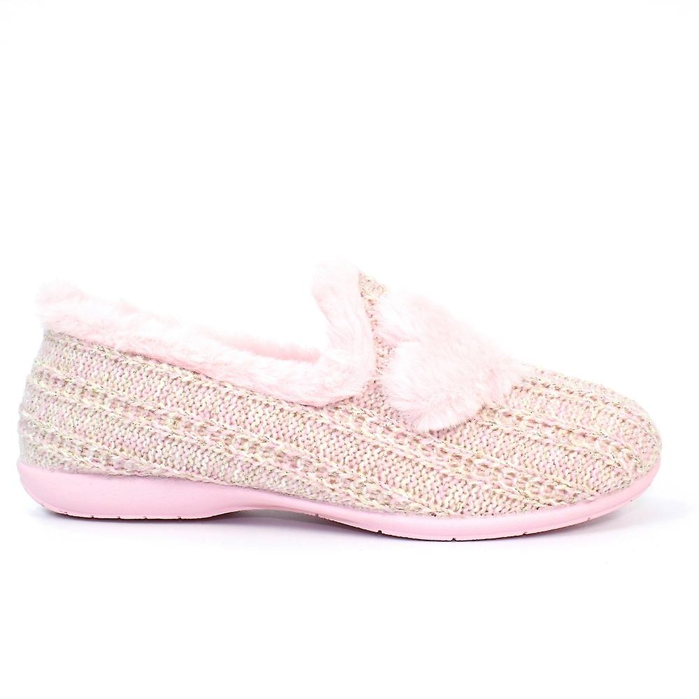 Slipper Republic Delphini roze volledige brede slipper pGHbH2