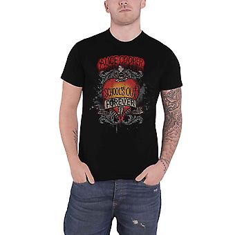 Alice Cooper T Shirt Schools Out Dagger distressed new Official Mens Black