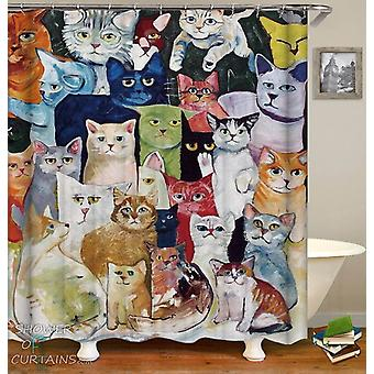 Colorful Art Cats Shower Curtain
