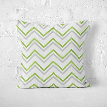 Meesoz Coussin - Fine Zigzags Green