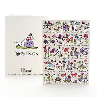 Tyrrell Katz Secret Garden Greetings Card