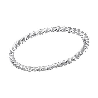 Twisted - 925 Sterling Silver Plain ringar - W24324x