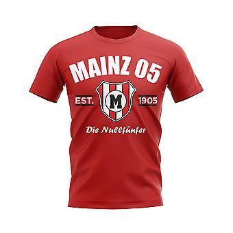 Mainz 05 etablierte Fußball-T-Shirt (rot)