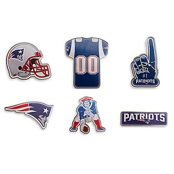 New England Patriots NFL Pin Badge Pin Set of 6