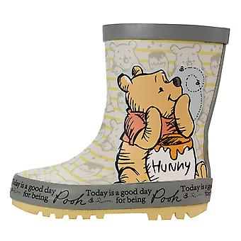 Winnie The Pooh Girls Kaba Slip On Wellington Boots UK Sizes Child 5-10