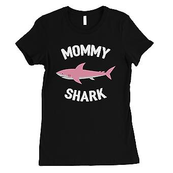 Daddy Mommy Baby Shark Family Matching T-Shirts For Men Black Tee